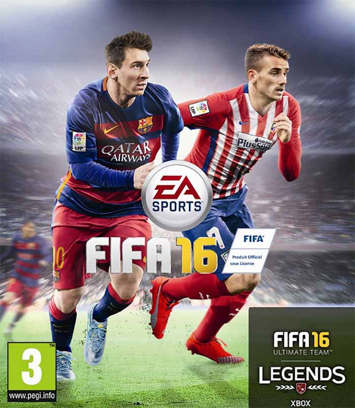 Lionel Messi and Antoine Griezmann for EA Sports - FIFA 16