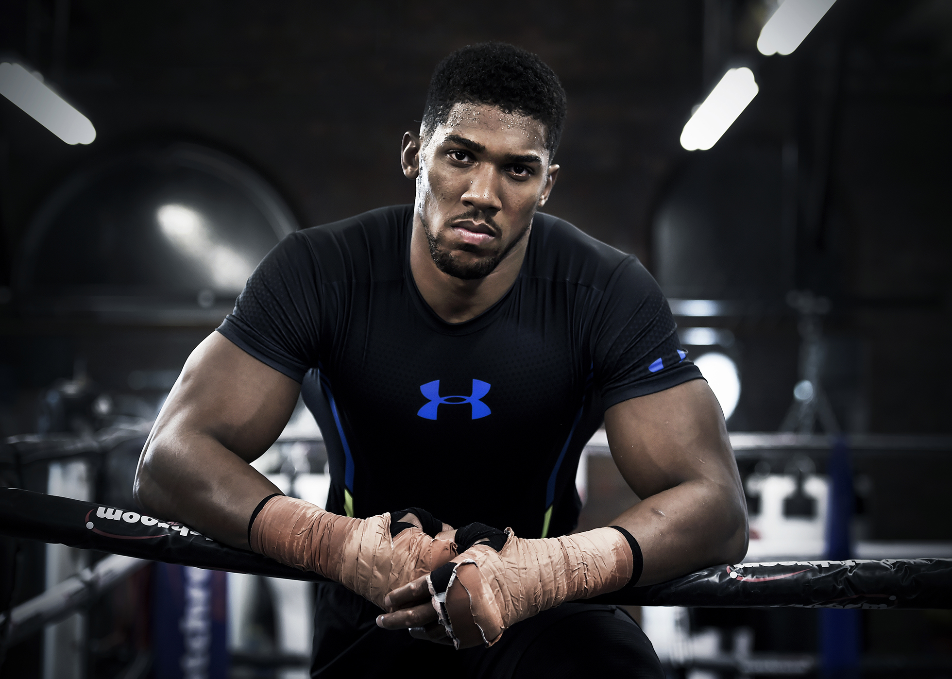 Anthony Joshua during an Under Armour media day. Photo: Visionhaus