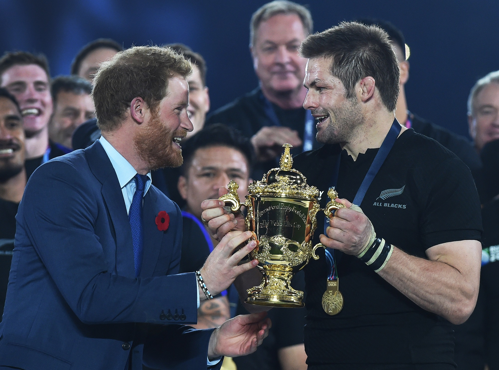 Prince Harry and Richie McCaw - Rugby World Cup Final 2015
