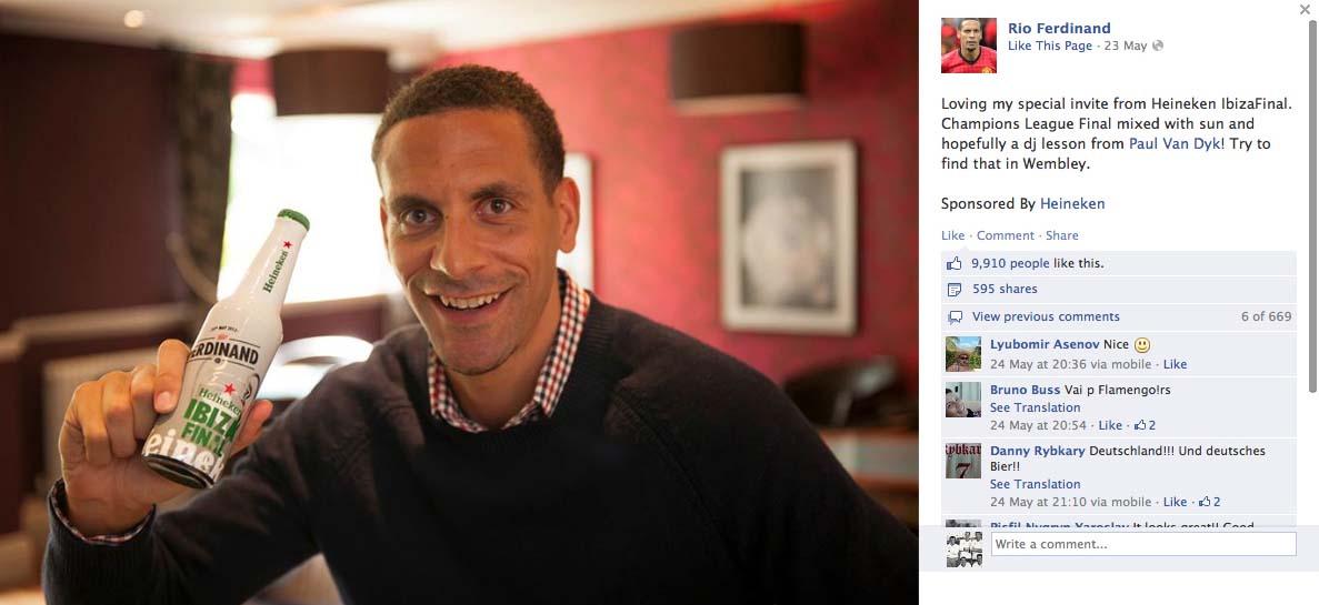 Rio Ferdinand for Heineken